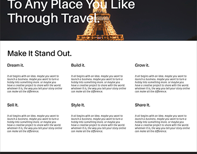 Travel android and web ui