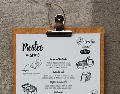 Branding | carta picoteo Estrecho 52