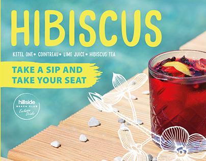 Hillside Beach Club Coctail Menus