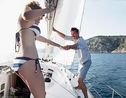 Swimwear Croatia sailing shoot