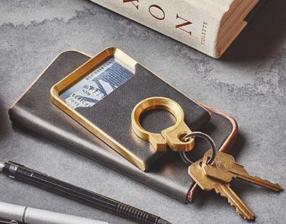 The Grovemade Brass Wallet.