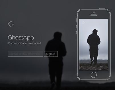 Ghost App - Coming Soon Page Draft