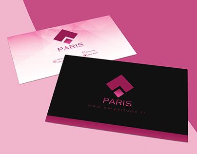 Paris perfume - business card & Roll up