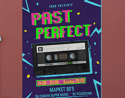"""poster """"PAST PERFECT"""""""