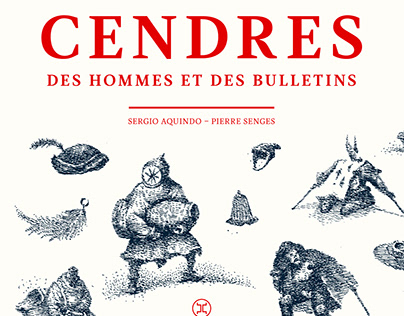 CENDRES DES HOMMES: illustrated book.