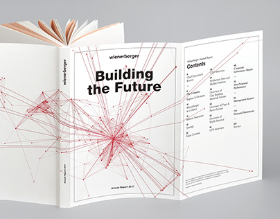 Generative Artwork for Wienerberger Annual Report 2017