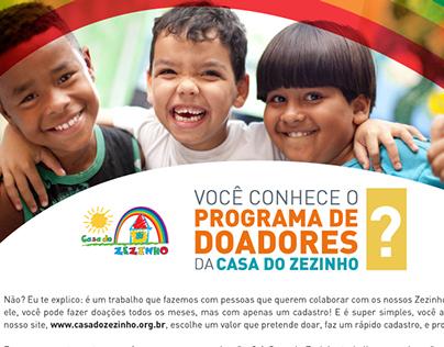Divulgação Online - ONG Casa do Zezinho