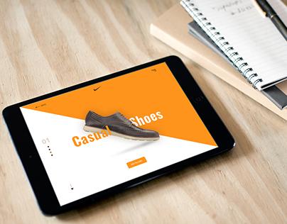Tablet Mock-Ups shoe landing page tamplate
