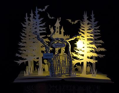 Halloween Book Art - Halloween Hotel