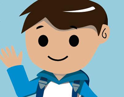 Student kid illustration
