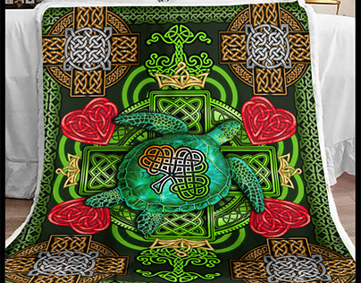 St Patrick's Day Blanket by 90 LoveHome on Behance