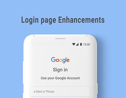 Google, Facebook Login page designs