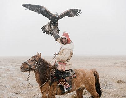 Eagle hunters, Mongolia.