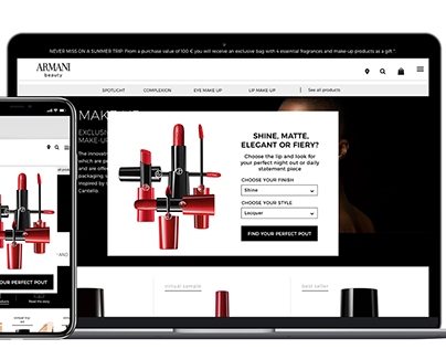 Campaign for Armani || Signup Banner Design