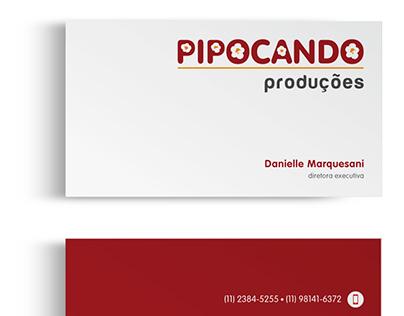 Logotipo e Papelaria p/ Pipocando Produções e Eventos