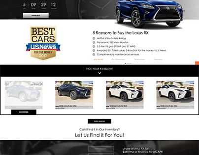 Automotive Lead Gen Focused Landing Page