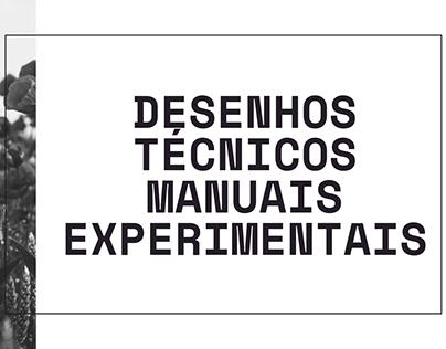 Desenhos técnicos manuais experimentais