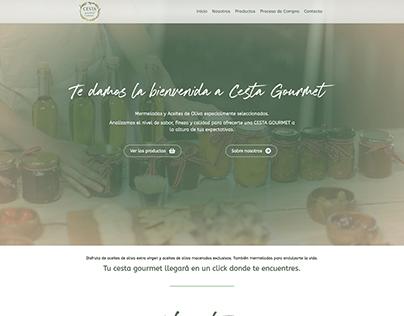 Identidad de marca y Web: Cesta-Gourmet.com