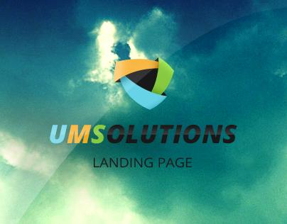 UMSolutions Landing Page Design