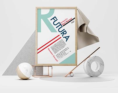 Type Specimen Poster   FUTURA