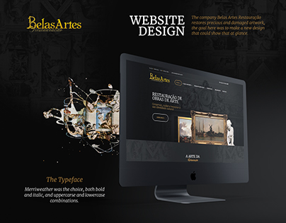 Belas Artes website design