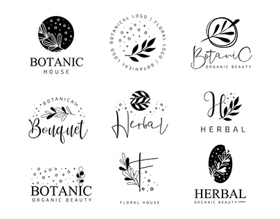 Free Botanical Logo Set