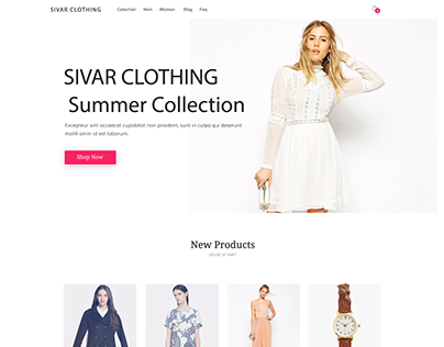 Sivar Clothing - Web Design