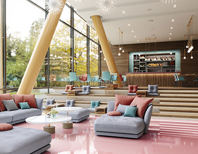 Hotel lounge and lobby area