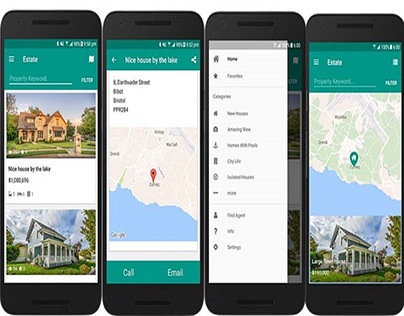 Property Listing Mobile Application - California