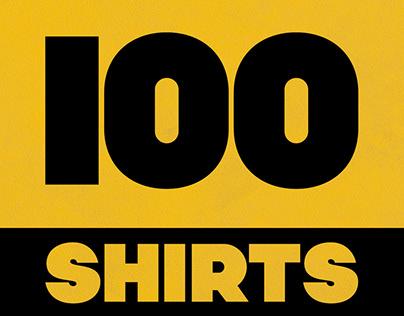 100 Shirts Created in Adobe Illustrator