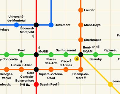 Alternate Montreal Metro Map