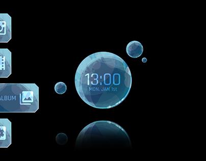 AR Glass UI - Desktop&Menu