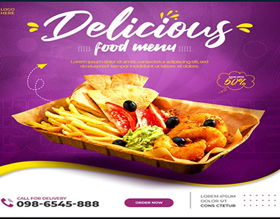 Free Download Food social media promotion and banner