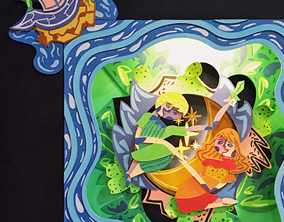 Peter Pan: Three-Dimensional Art Installation