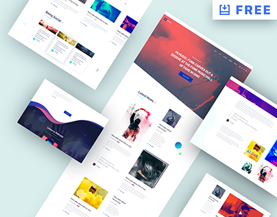 MI MUSIC - Free Website PSD Template