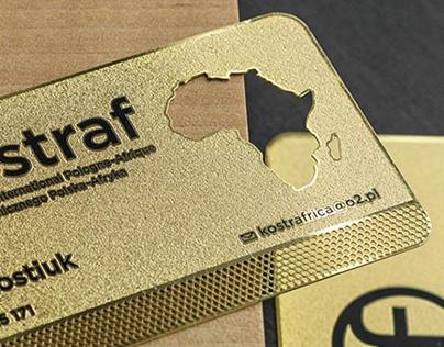 Kostraf golden business cards