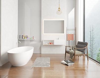 Bathmirror minimalist Scene