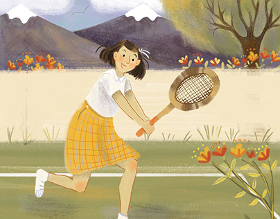 """Ilustraciones para libro ilustrado """"Anita Lizana""""."""