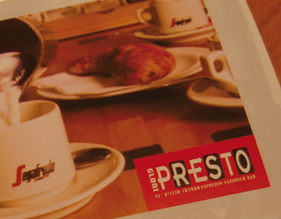 Presto Cafe Identity