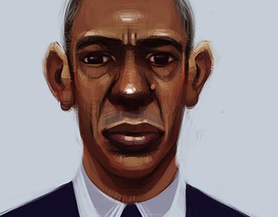 Barack Obama Portrait Study