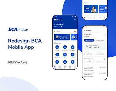BCA Mobile App - Redesign (Mobile Banking App)