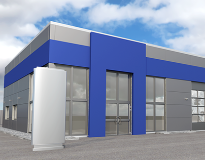 Workshop Frontage for Corporate Design Mock-Up