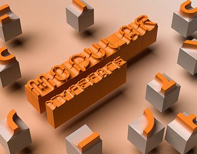 Modular Typeface concept