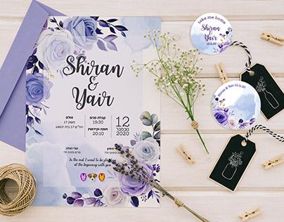 S&Y wedding invitation
