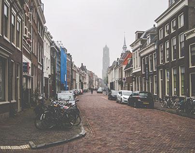 Utrecht in the morning mist