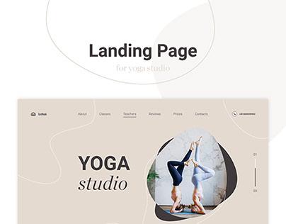 YOGA Studio - Landing Page