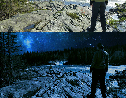 Night and Day (old work) Photo Manipulation)