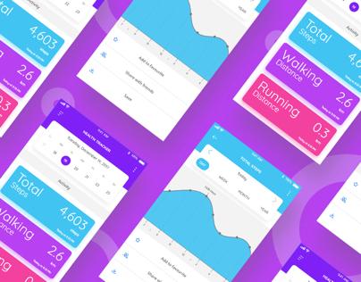 Steps tracker app ui