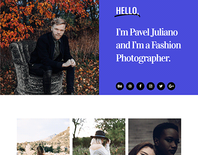 Photographic Landing Page