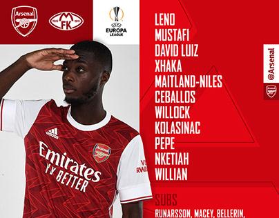 Arsenal FC Social Media Assets